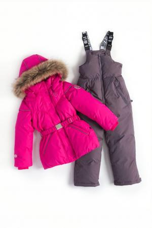 Комплект куртка/полукомбинезон  Leena, цвет: розовый/серый Nels