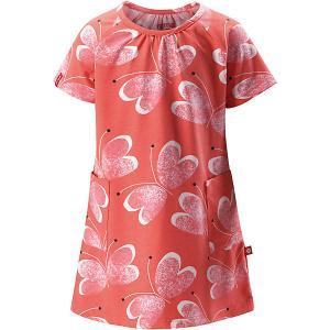 Платье Haili  для девочки Reima. Цвет: красный