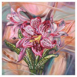 Мозаика из пайеток на холсте Лилии МХ-14 Волшебная мастерская