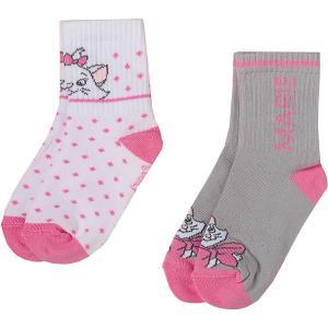Носки , 2 пары Disney. Цвет: блекло-розовый