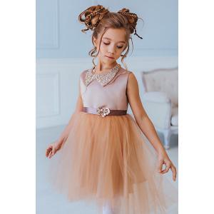 Нарядное платье Unona. Цвет: коричневый