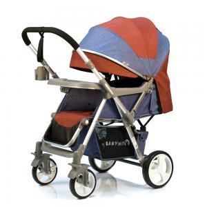 Прогулочная коляска  Sense, цвет: джинс/темно-красный BabyHit