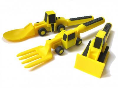 Набор из трех столовых приборов Строительная серия Constructive eating