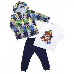 Комплект для мальчика жакет, лонгслив, брюки 6405 Baby Rose