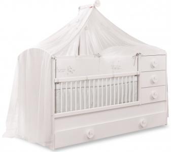 Кроватка-трансформер  Baby Cotton с выдвижным спальным местом 131х80/177х80 см Cilek