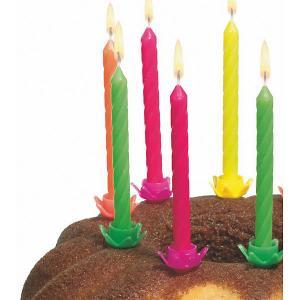 Свечи для торта  с подсвечниками 12 шт., разноцветные Susy Card