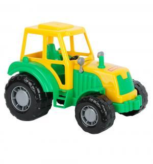 Трактор  Мастер желто-зеленый 22 x 14.5 см Полесье