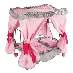 Кровать д/кукол , с балдахином Корона 47*31*53см Melobo