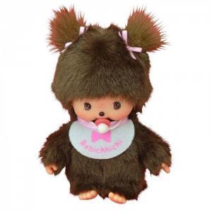 Мягкая игрушка  Девочка в слюнявчике 15 см Monchhichi