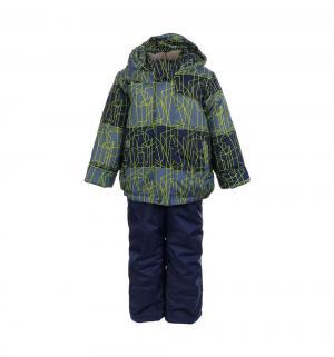 Комплект куртка/полукомбинезон  Сэм, цвет: синий/салатовый Oldos
