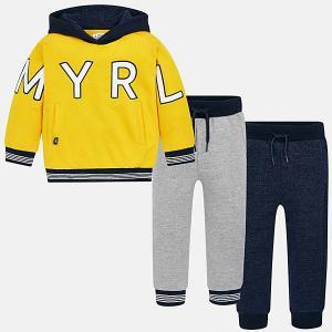 Спортивный костюм Mayoral. Цвет: желтый