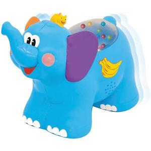 Развивающая игрушка  Каталка Слоненок Kiddieland. Цвет: синий