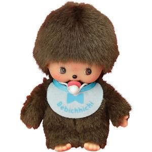 Мягкая игрушка  Бэбичичи, мальчик в голубом слюнявчике, 15 см Monchhichi