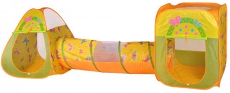 Игровая палатка Бабочки с туннелем CBH-24 + 100 шаров BabyOne