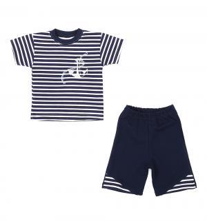 Комплект футболка/шорты , цвет: синий/белый Aga