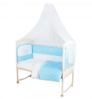 Комплект постельного белья  Зайка с мамой, цвет: голубой Leader Kids