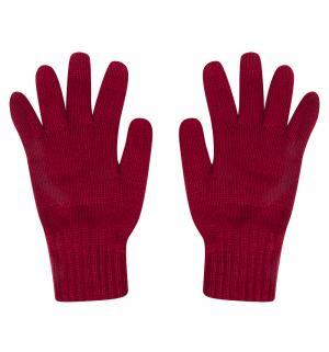 Перчатки , цвет: бордовый Чудо-кроха