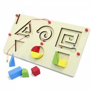 Деревянная игрушка  лабиринт сортер, магнитная 8 деталей 42207 Фабрика фантазий