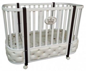 Кроватка-трансформер  Estelle Elegance 3 автостенка (колесо) Кедр