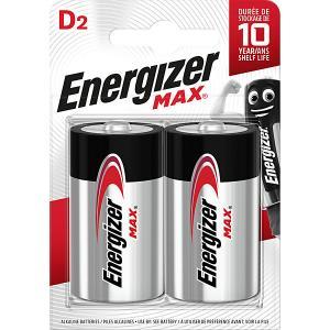 Батарейки алкалиновые  Max, тип D/LR20, 1,5 V, 2 шт Energizer