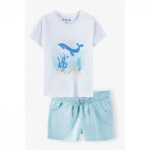 Комплект для девочки (футболка и шорты) 3P4004 5.10.15