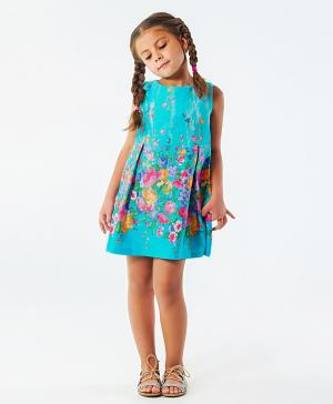 Платье Цветочная поляна 5+