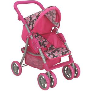 Коляска - трансформер Buggy Boom, коричнево-розовая Melobo. Цвет: розовый