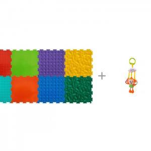 Игровой коврик  модульный Набор №2 Малыш и Подвесная игрушка Forest Обезьянка с колечками ОртоДон