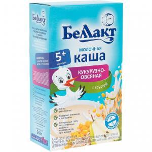 Каша  молочная кукурузно-овсяная с грушей 5 месяцев 250 г Беллакт