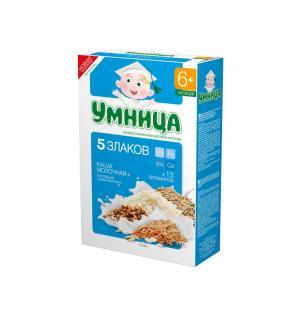 Каша  молочная 5 злаков с 6 месяцев 200 г 1 шт Умница