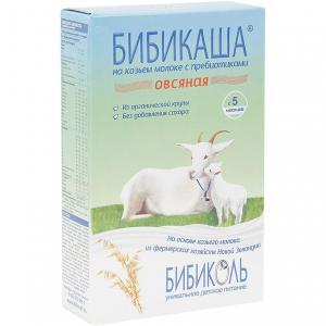 Каша  молочная Овсяная на козьем молоке с 5 месяцев 200 г Бибиколь