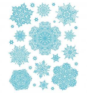 Наклейка  Снежинки голубые 3 Яркий Праздник