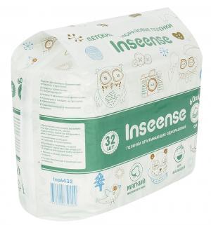 Пеленки  впитывающие 60х40 см, 32 шт Inseense