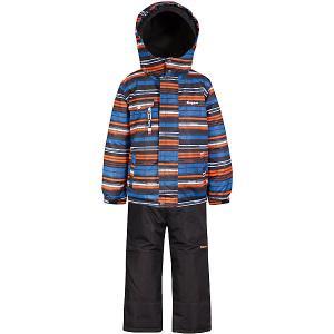 Комплект  by Gusti: куртка, полукомбинезон Zingaro. Цвет: синий/оранжевый