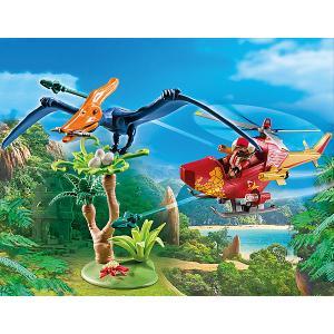 Конструктор Playmobil Вертолет для приключений с птеродактилем, 9 деталей PLAYMOBIL®