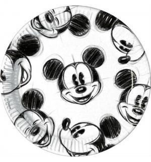 Бумажные тарелки  Гримассы Микки 23 см Procos