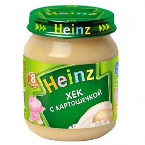 Пюре  хек с картошечкой 8 месяцев, 120 г Heinz