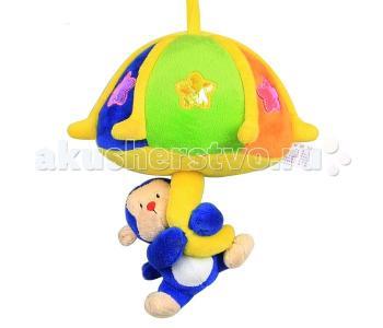 Подвесная игрушка  Музыкальная подвеска Свет Обезьянка Кот Муар