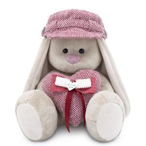 Мягкая игрушка  Город Зайка Ми в кепке и с сердцем 18 см Budi Basa