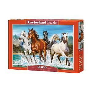 Пазл  Бегущие лошади, 2000 деталей Castorland