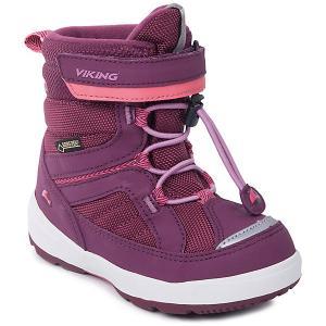 Ботинки Playtime GTX Viking для девочки. Цвет: бордовый