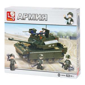 Конструктор  Армия: Танк с солдатами, 312 деталей Sluban. Цвет: разноцветный