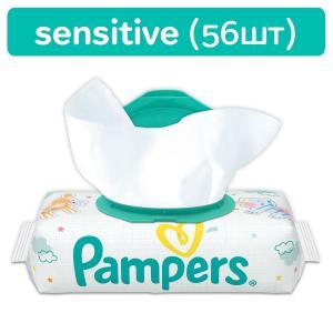 Влажные салфетки  Sensitive, 56 шт Pampers