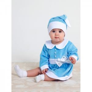 Комплект новогодний Леди Санта (платье, колпачок) Дашенька