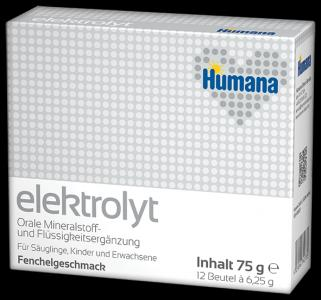 Молочная смесь  Электролит со вкусом фенхеля с рождения, 75 г Humana