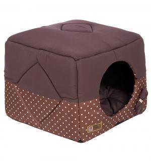 Лежанка для кошек  Домосед, цвет: шоколадный, 45*45*45см Зоогурман