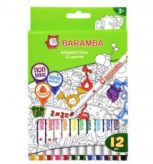 Набор фломастеров на водной основе 12 цветов, Jovi Baramba