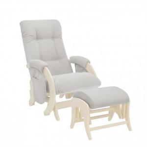 Кресло для мамы  с карманами Smile пуфом Uni Дуб шампань Milli