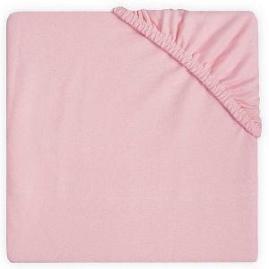 Простыня на резинке Jollein 60х120 см. Цвет: розовый