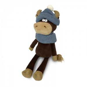 Мягкая игрушка  Бычок Василий в шарфе и шапке 33 см Maxitoys